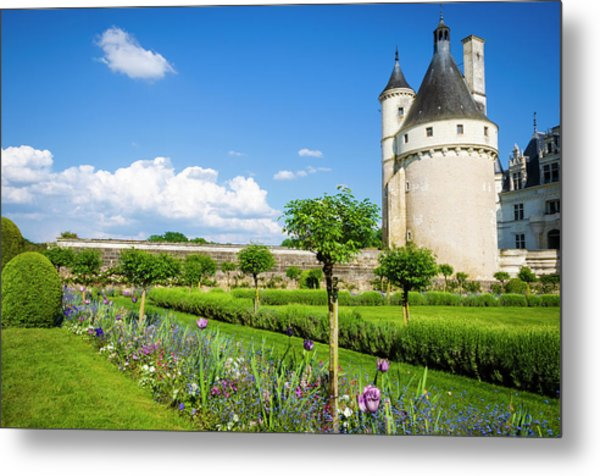 The Marques Tower And Garden Metal Print