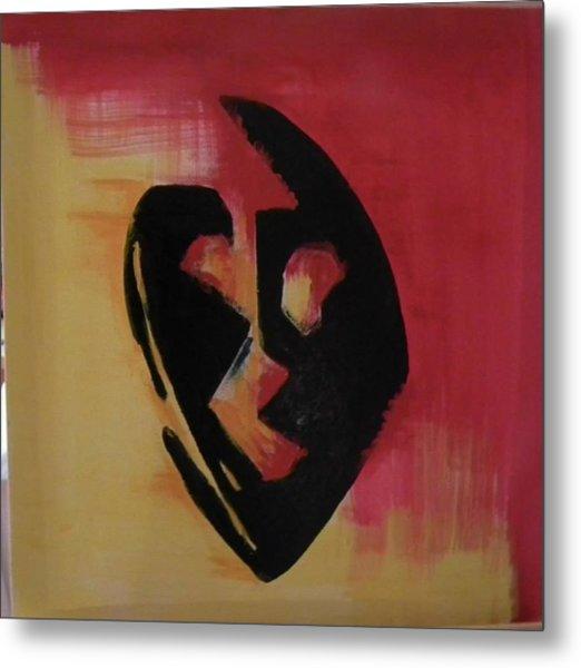 The Mask Metal Print by Faria  Ehsan