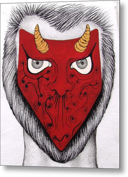 The Mask I See  Metal Print by Benita Solomon