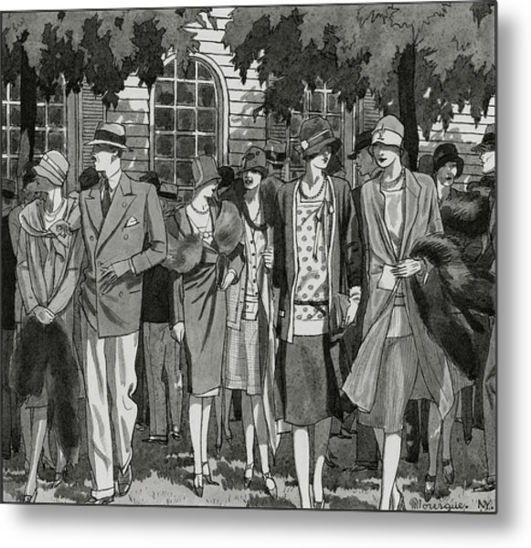 The Meadow Brook Club After A Polo Match Metal Print