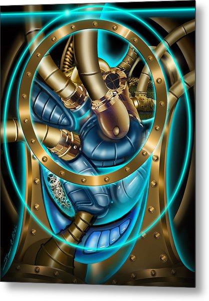 The Mechanical Heart Metal Print