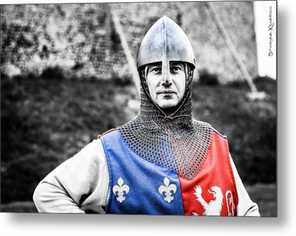 The Medieval Warrior Metal Print