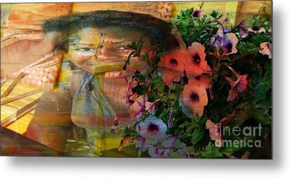 The Memory Of A Village Girl Metal Print