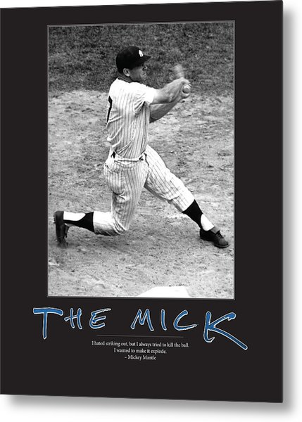 The Mick Mickey Mantle Metal Print