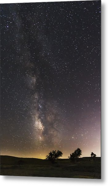 The Milky Way And Dark Kansas Skies Metal Print