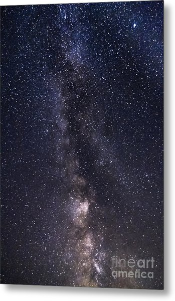 The Milky Way From Phippsburg Maine Usa Metal Print