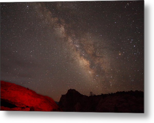 The Milky Way Over Mesa Arch Metal Print
