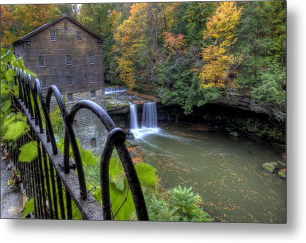 The Mill And Falls At Mill Creek Park Metal Print