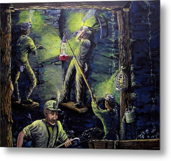 The Miners Way Metal Print