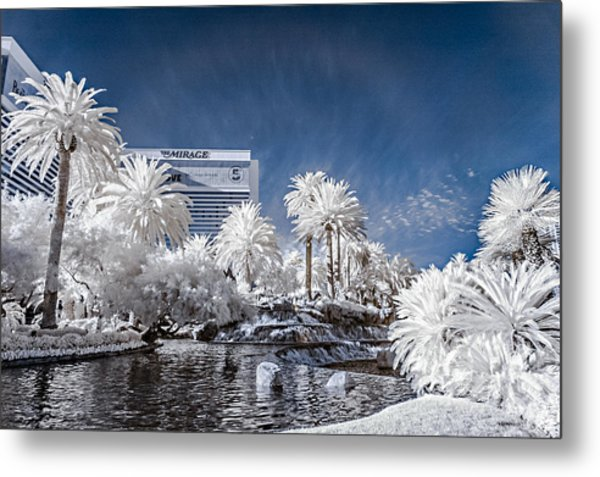 The Mirage In Infrared 1 Metal Print