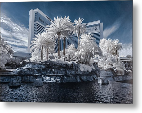 The Mirage In Infrared 2 Metal Print