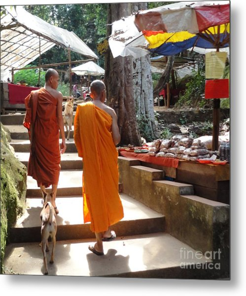 The Monks Have A Rest Metal Print