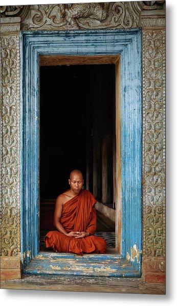 The Monks Of Wat Bo Metal Print