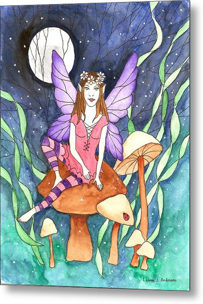 The Moon Fairy Metal Print