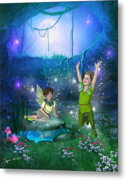The Moonlight Fairies Metal Print