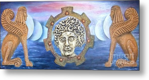The Moons Of Infinite Time Metal Print by Anna Maria Guarnieri