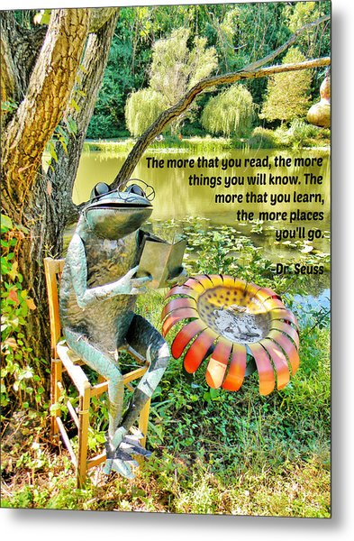 The More That You Read... Metal Print