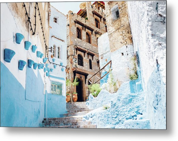 The Moroccan Blue City, Chefchaouen Metal Print by Oscar Wong