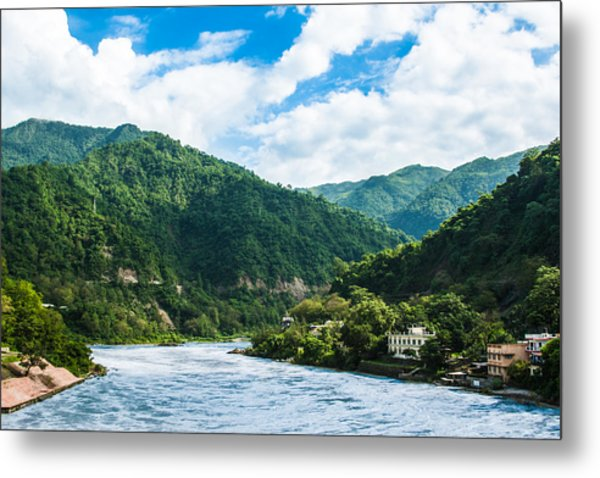 The Mountain Valley Of Rishikesh Metal Print