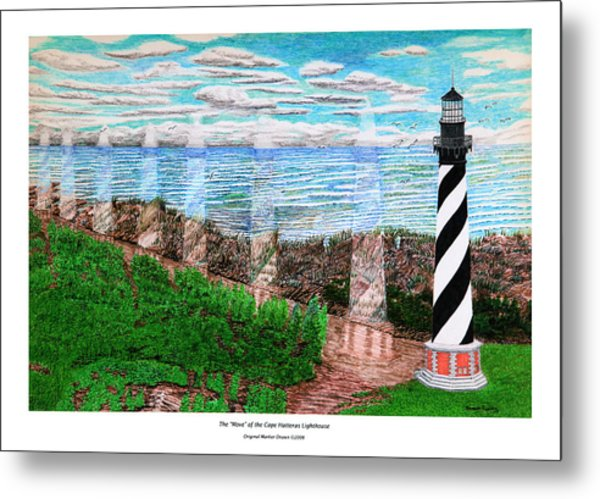 The Move Of The Cape Hatteras Lighthouse Metal Print by Frank Evans