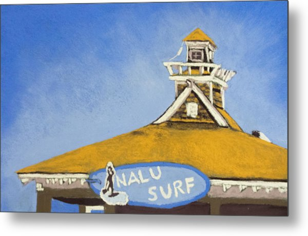 The Nalu Surf Shack Metal Print by Cristel Mol-Dellepoort