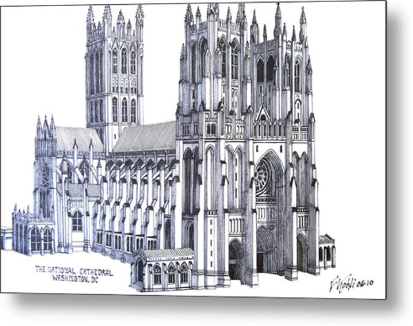 The National Cathedral Metal Print