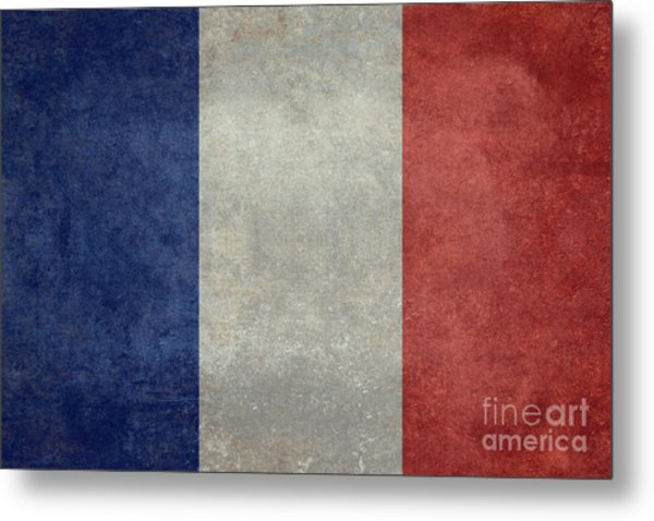 The National Flag Of France Metal Print