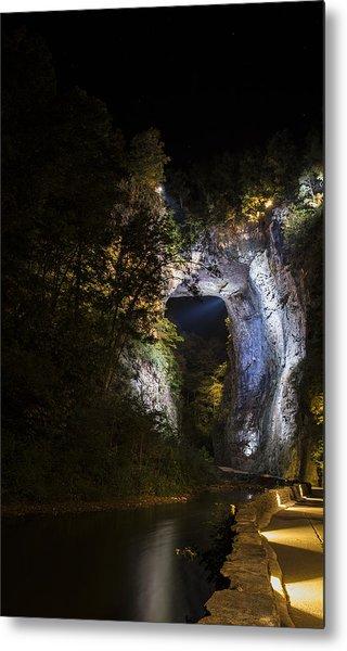 The Natural Bridge At Night  Metal Print