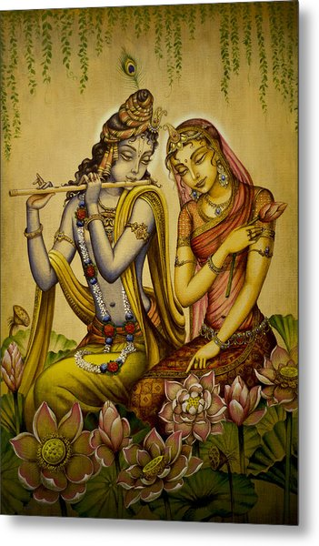 The Nectar Of Krishnas Flute Metal Print