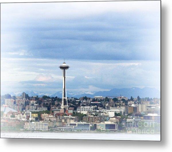 The Needle In Seattle Wa Metal Print