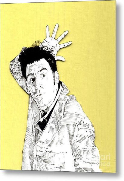 The Neighbor On Yellow Metal Print