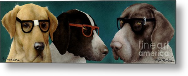 The Nerd Dogs... Metal Print