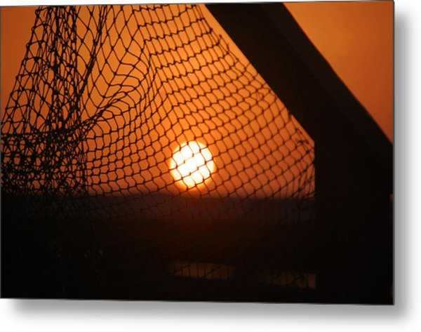 The Netted Sun Metal Print