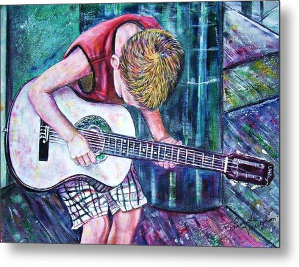 The New Guitar Metal Print by Linda Vaughon