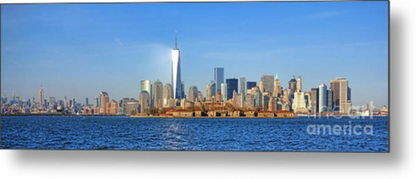 Metal Print featuring the photograph The New Manhattan by Olivier Le Queinec