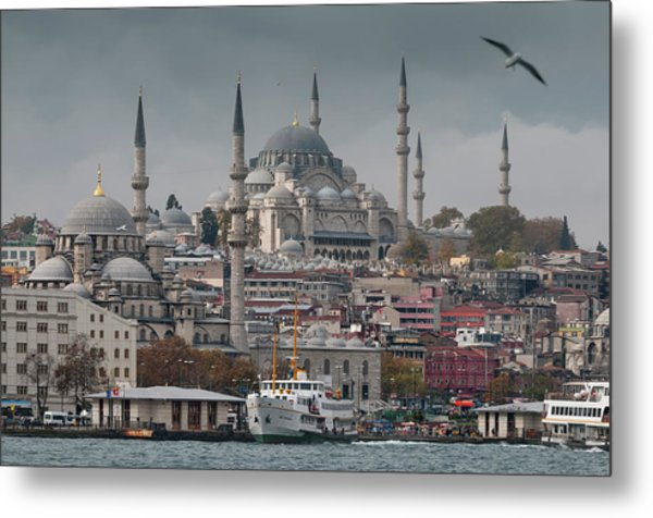 The New Mosque And The Suleymaniye Metal Print