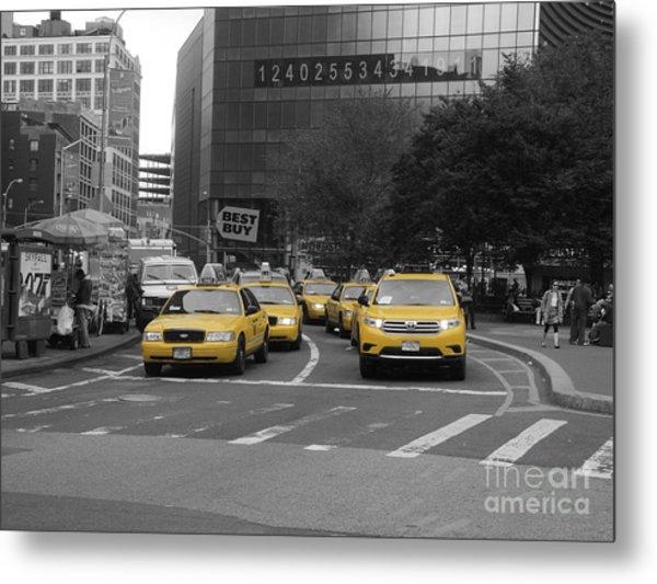 The New York Cabs Metal Print