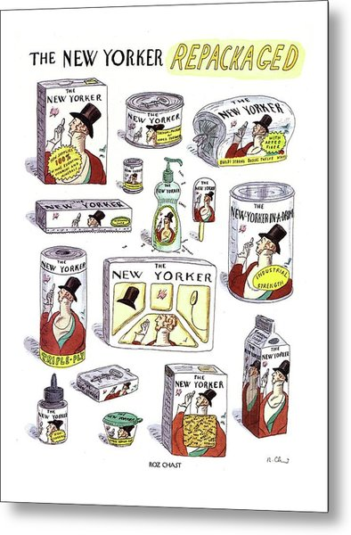 The New Yorker Repackaged Metal Print