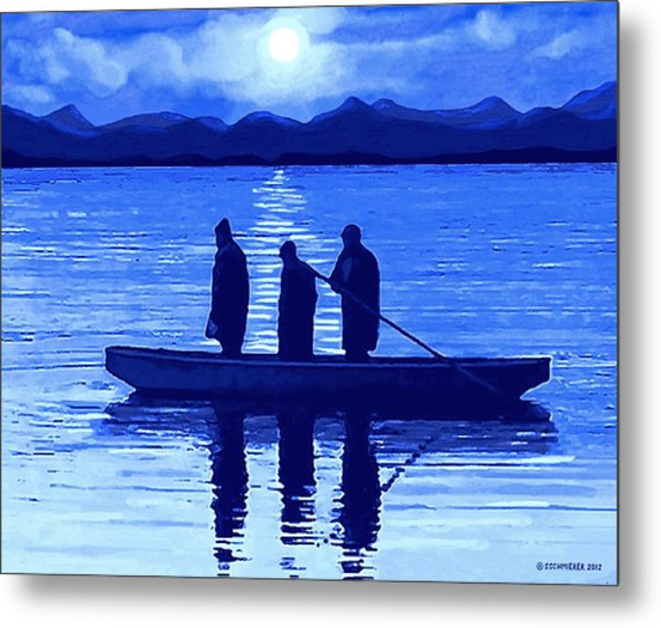 The Night Fishermen Metal Print