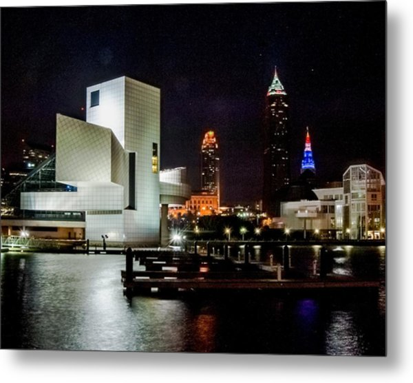 The Night Rocks In Cleveland Metal Print