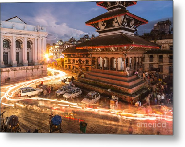 The Nights Of Stunning Kathmandu Metal Print