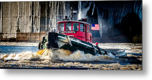 The North Dakota Metal Print