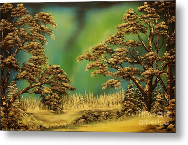 The Northern Light-original Sold-buy Giclee Print Nr 36 Of Limited Edition Of 40 Prints  Metal Print