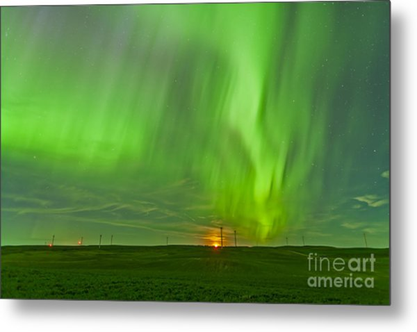 The Northern Lights As Seen Metal Print