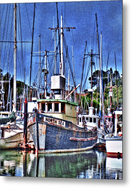 The Northern Sea Fishing Boat Metal Print