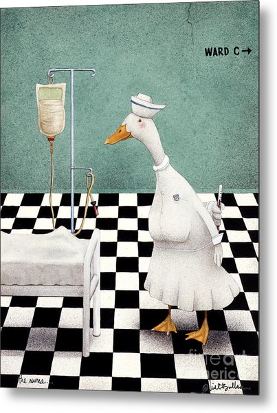The Nurse... Metal Print by Will Bullas