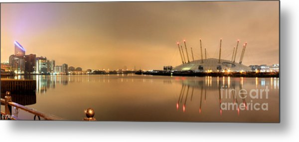 The O2 Arena Metal Print by Size X