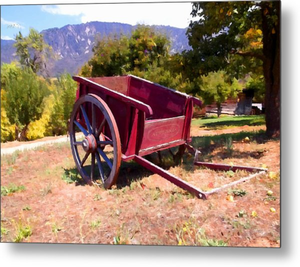 The Old Apple Cart Metal Print