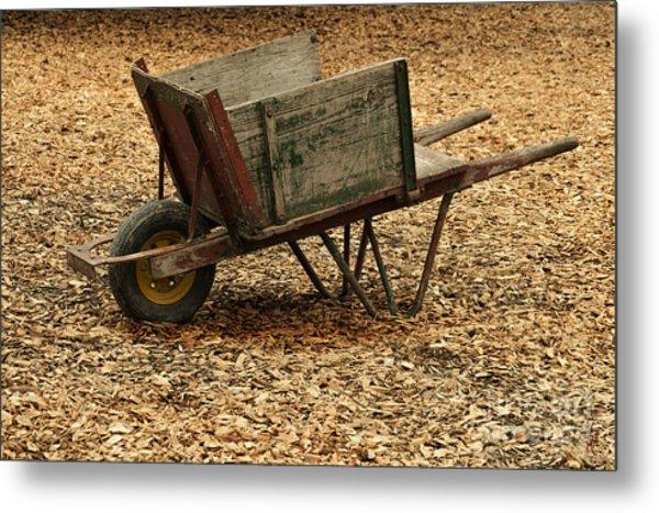 The Old Barn Wagon Metal Print