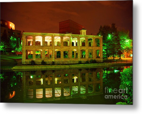 The Old Carriage House Building In Downtown Greenville Sc Metal Print